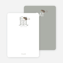 Notecards for the 'Chinese Rat' cards. - Ash