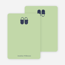 Personal Stationery for Boys' Shoes Modern Baby Announcement - Celadon
