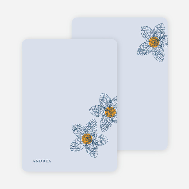 Personal Stationery for Spriograph Flowers Bridal Shower Invitations - Slate Blue