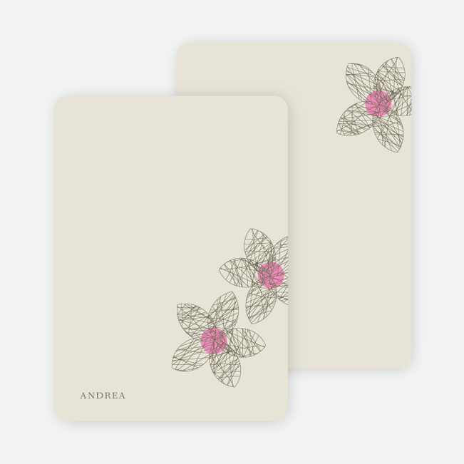 Personal Stationery for Spriograph Flowers Bridal Shower Invitations - Taupe