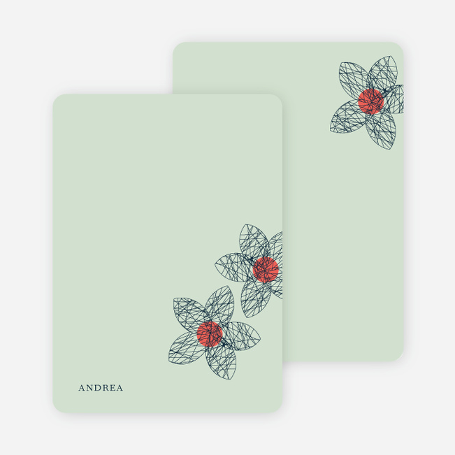 personal stationery for spriograph flowers bridal shower inv