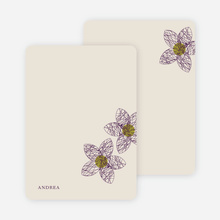 Personal Stationery for Spriograph Flowers Bridal Shower Invitations - Eggplant