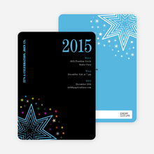 Starburst New Year's Invitations - Sky Blue