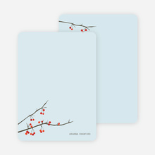 Stationery: 'Winter Berries' cards. - Glacier