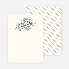 Thank You Card for Elegant, Yet Modern Cocktail Party Invitation - Charcoal