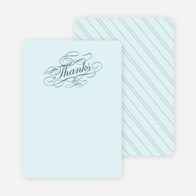 Thank You Card for Elegant, Yet Modern Cocktail Party Invitation - Slate Blue