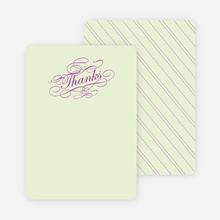 Thank You Card for Elegant, Yet Modern Cocktail Party Invitation - Magenta