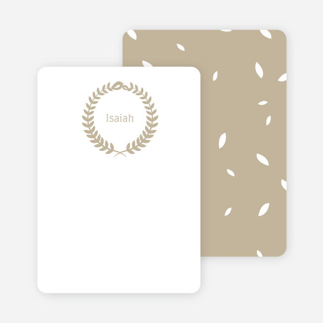 Wreath Personalized Stationery - Brown