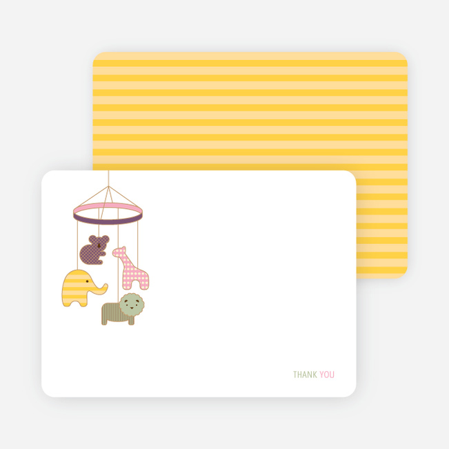 Note Cards: 'Animal Mobile' cards. - Cotton Candy