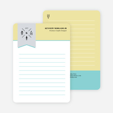 Artistic Tools Personal Stationery - Yellow