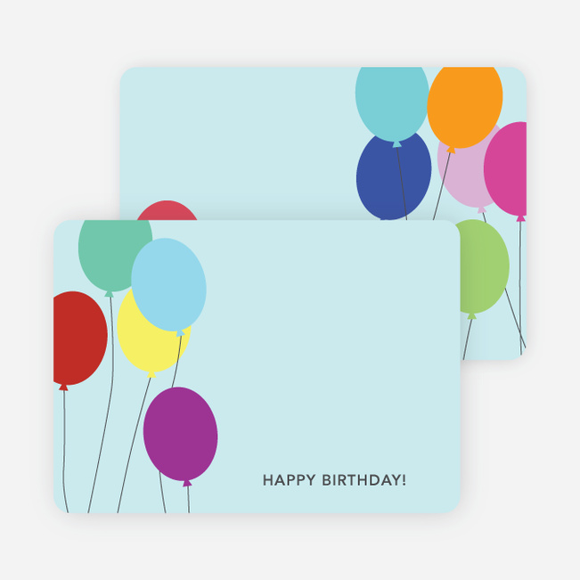 Balloon Birthday Party Invitations