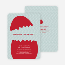 Hatching Egg Party Invitations - Yellow