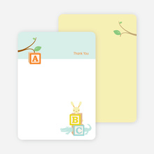 Note Cards: 'ABC Blocks' cards. - Glacier