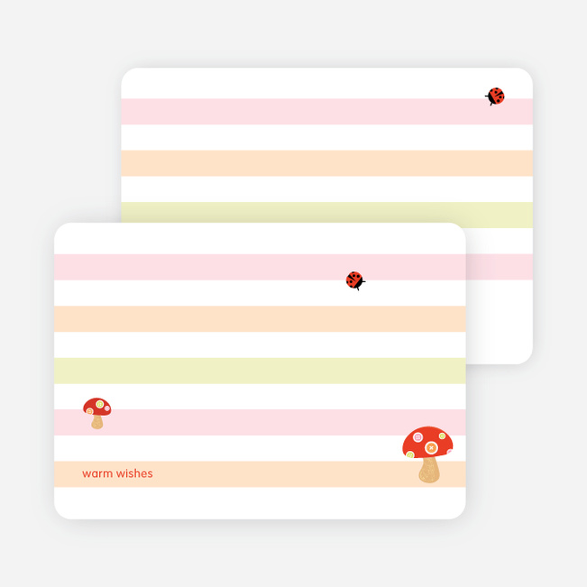 Note Cards: 'Mushroom Patch' cards. - Mushroom Brown
