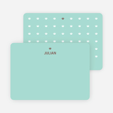 Note Cards: 'Prince and Princess Photo Invitations' cards. - Coffee Brown