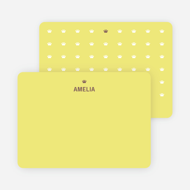 Note Cards: 'Prince and Princess Photo Invitations' cards. - Khaki