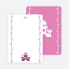 Note Cards: 'Princess Birthday Invitation' cards. - Grape Purple