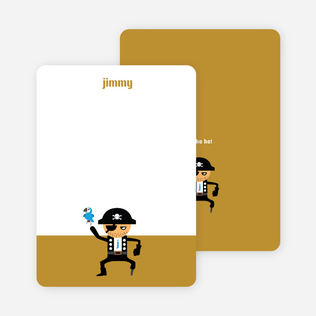 Note Cards: 'Shiver Me Timbers' cards. - Ginger