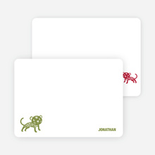 Note Cards: 'Simply Tiger' cards. - Olive Green