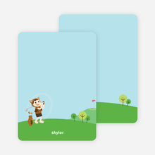 Note Cards: 'Tiger Golf Invitation' cards. - Russet Brown