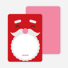 Notecards for the 'Santa Face' cards. - Fire Engine Red