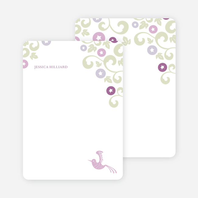 Personal Stationery for Morning Glory Wedding Shower Invitations - Magenta