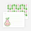 Personal Stationery for Pear Birds Modern Birthday Invitation - Light Green