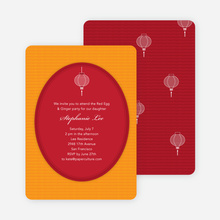 Red Egg and Ginger Party Invitations - Red