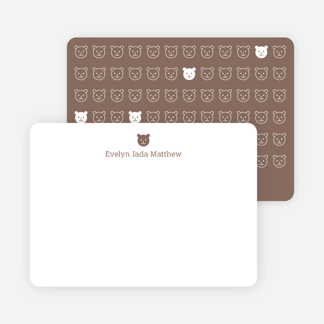 Stationery: '1 Little Bear' cards. - Cocoa