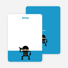 Stationery: 'Ninja Karate Master' cards. - Royal Blue
