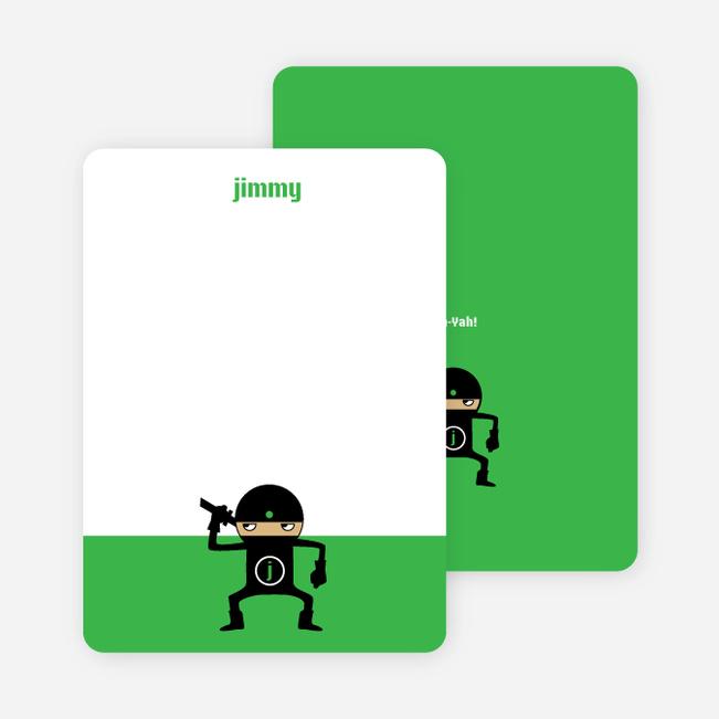 Stationery: 'Ninja Karate Master' cards. - Shamrock