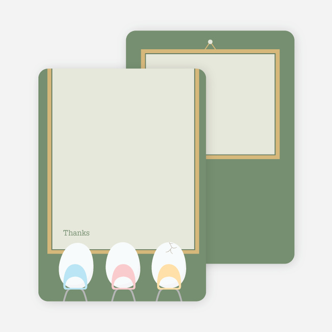 Thank You Card for Eggs in a Classroom for Multiple Births - Lilypad