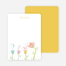Thank You Card for Garden Tea Party Baby Shower Invitation - Salmon