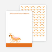 Thank You Card for Pea in Pod Baby Shower Invitation - Persimmon