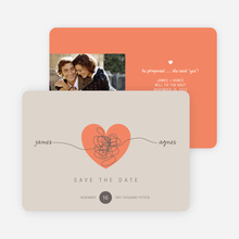 Tying the Knot Save the Date Cards - Orange