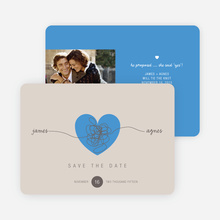 Tying the Knot Save the Date Cards - Blue