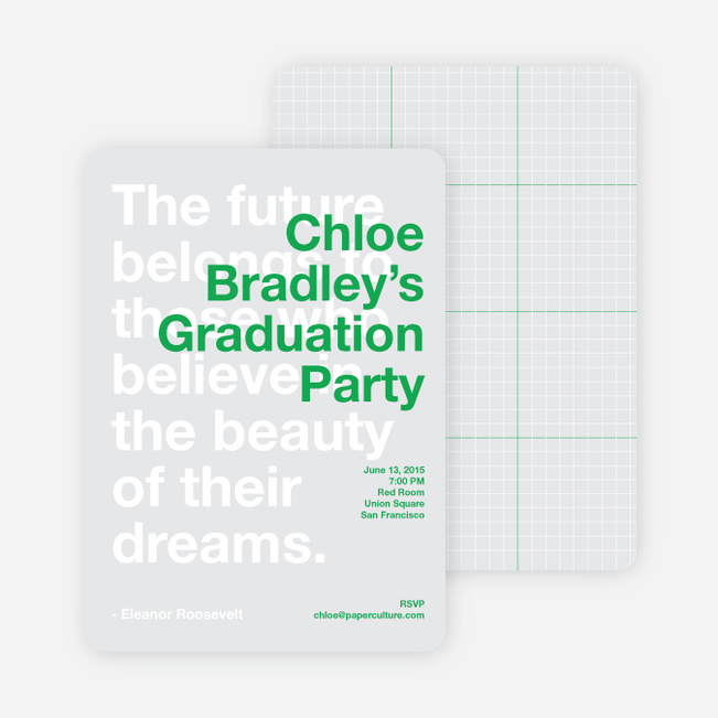 Graduation Quote Invitations - Palm