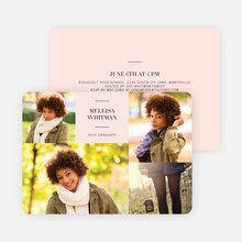 4 Photo Graduation Cards - Purple