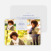 4 Photo Graduation Cards - Blue
