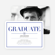 Chic but Classic Graduation Invitations - Blue