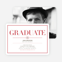 Chic but Classic Graduation Invitations - Red