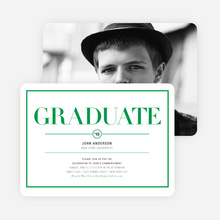 Chic but Classic Graduation Invitations - Green