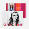 Class Stripes Graduation Announcements - Red