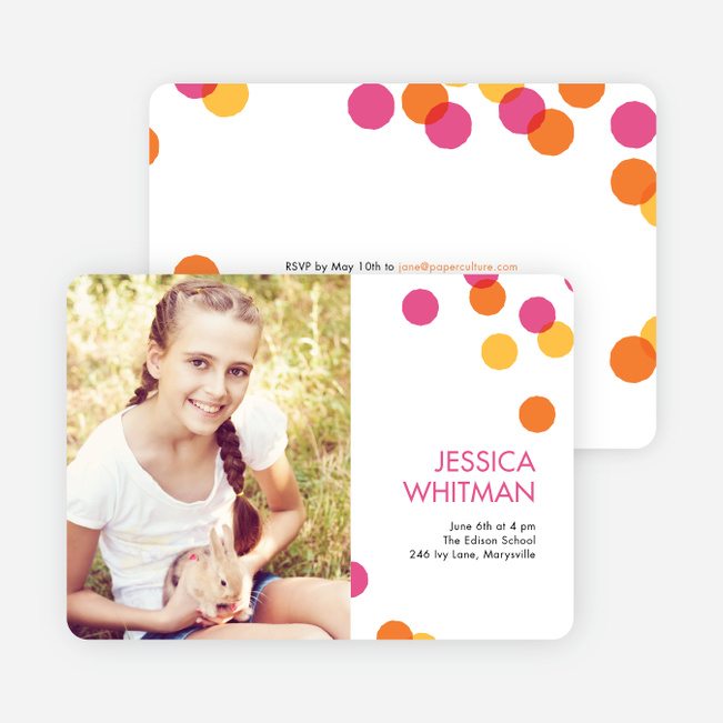 Colorful Graduation Cards - Pink