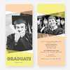 Graduation Announcements with Geometric Triangles - Orange