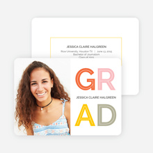Happy Grad Graduation Announcements - Yellow