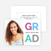 Happy Grad Graduation Announcements - Multi