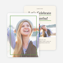 Linear High School Graduation Invitations  - Green