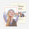 Linear High School Graduation Invitations  - Orange