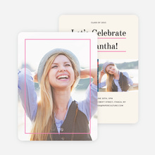 Linear High School Graduation Invitations  - Pink